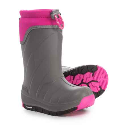 Kodiak Klondike Snow Boots - Waterproof, Insulated (For Girls) in Grey/Pink - Closeouts