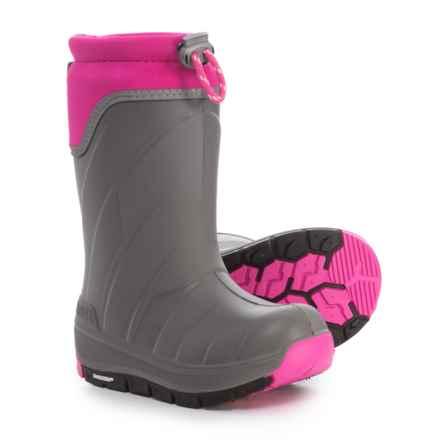 Kodiak Klondike Snow Boots - Waterproof, Insulated (For Girls) in Grey/Pink - Closeouts