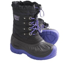 Kodiak Lulu Snow Boots - Waterproof, Insulated (For Girls) in Black/Purple Pizzazz - Closeouts