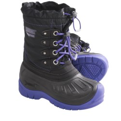 Kodiak Lulu Snow Boots - Waterproof, Insulated (For Girls) in Black/Purple Pizzazz