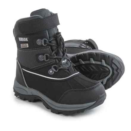 Kodiak Mason Lo-Cut Snow Boots (For Little and Big Boys) in Black/Grey - Closeouts