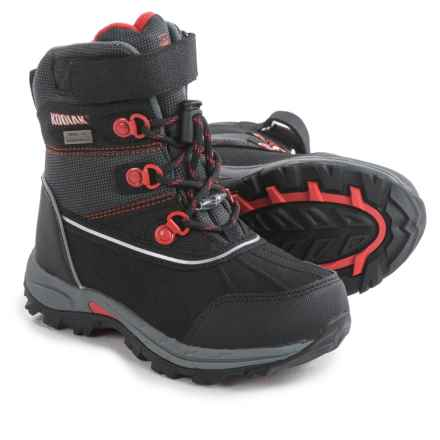 Kodiak Mason Lo-Cut Snow Boots (For Little and Big Boys) in Black/Red - Closeouts