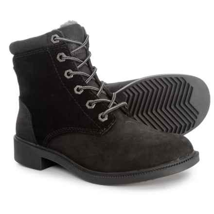 41b71c0cb19cf Kodiak Original Leather Fleece Boots - Waterproof (For Women) in Black -  Closeouts