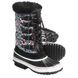 Kodiak Pearl Jr. Snow Boots - Lined (For Girls) in Black/Grey/Pink