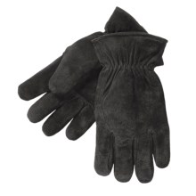 Kodiak Pigskin Suede Gloves (For Men) in Black - Closeouts