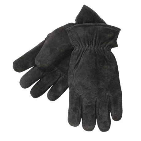 Kodiak Pigskin Suede Gloves (For Men) in Black