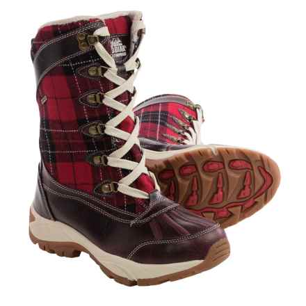 Kodiak Reegan Snow Boots - Waterproof, Insulated (For Women) in Red Plaid - Closeouts