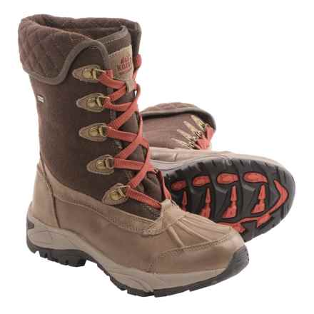 Kodiak Reilly Mid Snow Boots - Waterproof, Insulated (For Women) in Brown - Closeouts
