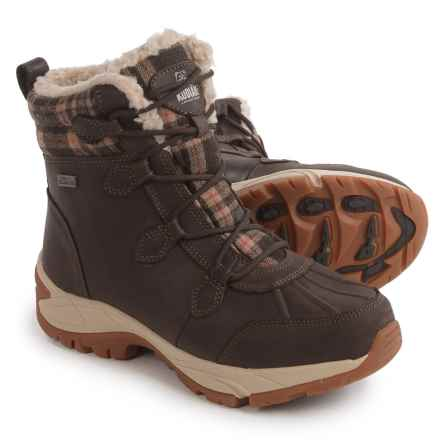 Kodiak Robyn Snow Boots - Waterproof, Insulated (For Women) in Brown Plaid - Closeouts