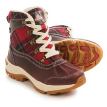 Kodiak Rochelle Snow Boots - Waterproof, Insulated (For Women) in Red Plaid - Closeouts