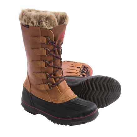 Kodiak Skyla Leather Pac Boots - Waterproof, Insulated (For Women) in Caramel - Closeouts