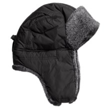 Kodiak Snowtop Fargo Aviator Hat (For Men and Women) in Black/Natural Grey - Closeouts