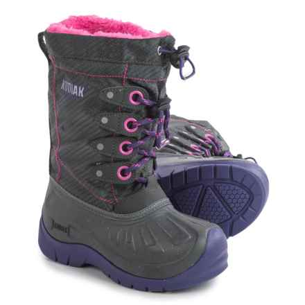 Kodiak Upaco Cali Pac Boots - Waterproof, Insulated (For Little and Big Girls) in Grey/Purple Passion/Cotton Candy Pink - Closeouts
