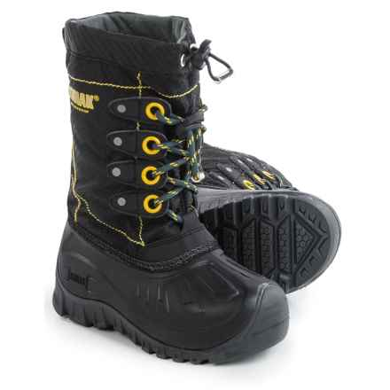 Kodiak Upaco Charlie Pac Boots - Waterproof, Insulated (For Little and Big Boys) in Black/Grey/Laser Lemon - Closeouts