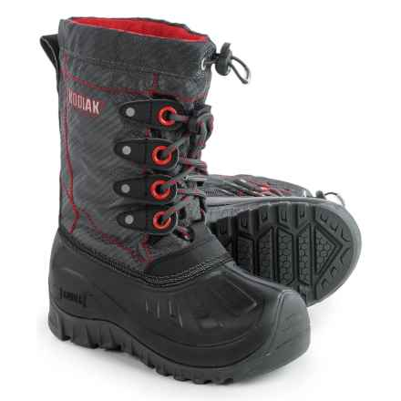Kodiak Upaco Charlie Pac Boots - Waterproof, Insulated (For Little and Big Boys) in Grey/Black/Radical Red - Closeouts