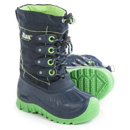 Kodiak Upaco Charlie Pac Boots - Waterproof, Insulated (For Little and Big Boys) in Navy/Sonic Green - Closeouts
