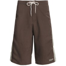 Kokatat Destination Paddling Trunks - UPF 40+ (For Men) in Dark Brown/Mist - Closeouts