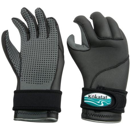 Kokatat Heavyweight Neoprene Paddling Gloves - 3mm (For Men and Women) in Black