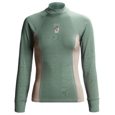 Kokatat Innercore Rash Guard - Long Sleeve, UPF 30+ (For Women) in Burgundy/Shale