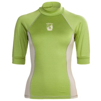 Kokatat Innercore Rash Guard Shirt - Short Sleeve (For Women) in Lime Fizz/Shale