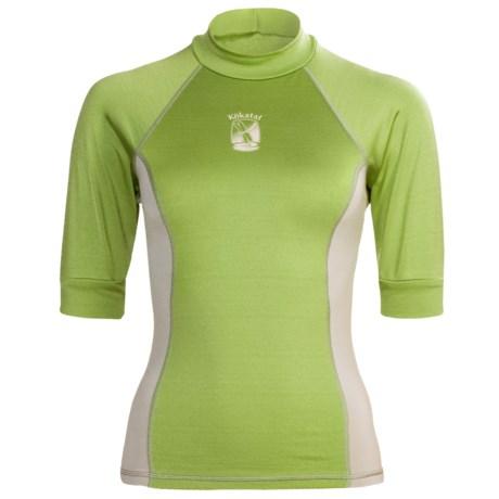 Kokatat Innercore Rash Guard Shirt - UPF 30+, Short Sleeve (For Women) in Straw/Shale