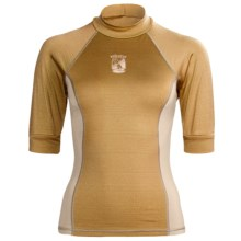 Kokatat Innercore Rash Guard Shirt - UPF 30+, Short Sleeve (For Women) in Straw/Shale - Closeouts