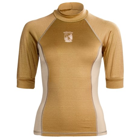 Kokatat Innercore Rash Guard Shirt - UPF 30+, Short Sleeve (For Women) in Straw/Shale