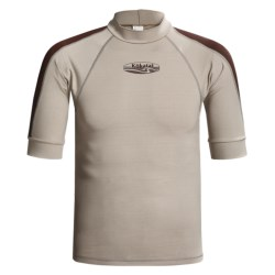 Kokatat Innercore Rash Guard - Short Sleeve, UPF 30+ (For Men) in Shale/Dark Brown