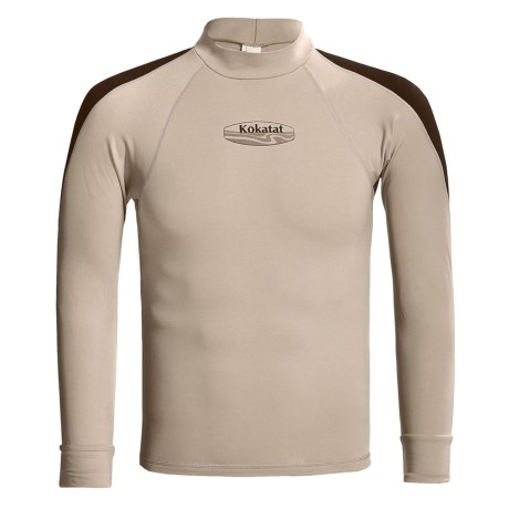 Kokatat Innercore Rash Guard - UPF 30+, Long Sleeve (For Men) in Shale/Dark Brown