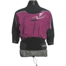 Kokatat Trinity Shorty Gore-Tex® Pro Shell Dry Top - Waterproof, Short Sleeve (For Women) in Plum - Closeouts