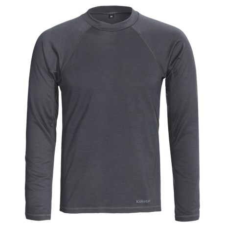 Kokatat Woolcore Base Layer Top - Long Sleeve (For Men) in Heather Grey