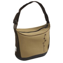 Koki Budgie Canvas Handlebar Tote Bag in Sand Embroidered - Closeouts