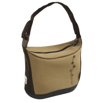 Koki Budgie Canvas Handlebar Tote Bag in Sand Embroidered