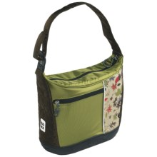 Koki Budgie Handlebar Tote Bag in Green Bird - Closeouts