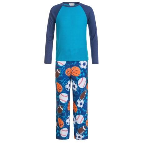 Komar Kids Kids Sports Thermal Pajamas - Long Sleeve (For Kids) in Navy