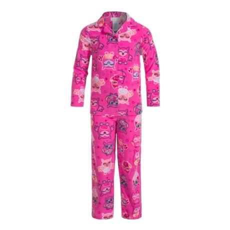 Komar Kids Owl-Star Microfleece Pajamas - Long Sleeve (For Girls) in Pink