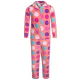 Komar Kids Polka-Dot Microfleece Pajamas - Long Sleeve (For Girls)