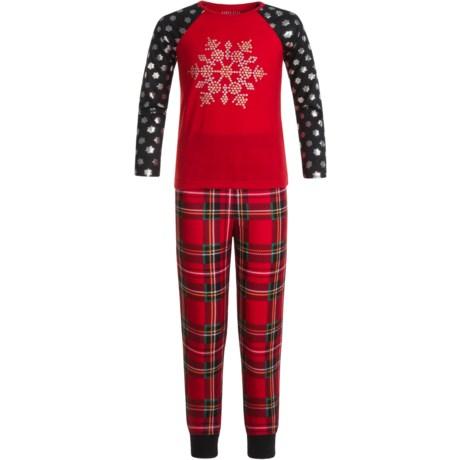 Komar Kids Snowflake Pajamas - Long Sleeve (For Kids) in Red