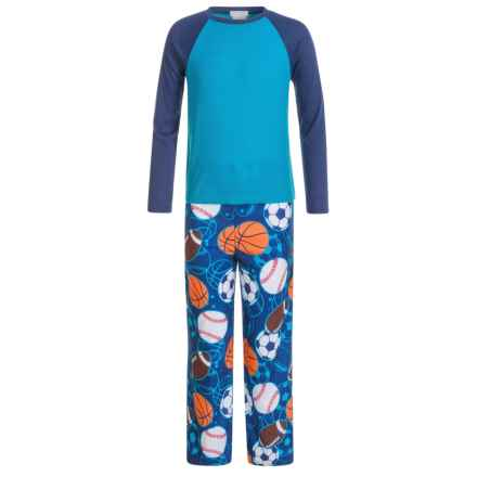 Komar Kids Sports Thermal Pajamas - Long Sleeve (For Kids) in Navy - Closeouts