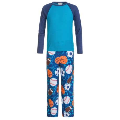 Komar Kids Sports Thermal Pajamas - Long Sleeve (For Kids) in Navy