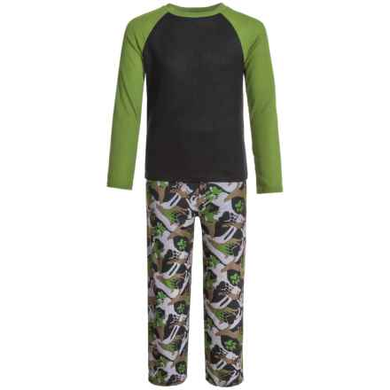 Komar Kids Wolf Camo Thermal Pajamas - Long Sleeve (For Kids) in Black - Closeouts