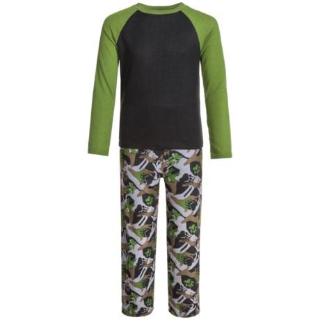 Komar Kids Wolf Camo Thermal Pajamas - Long Sleeve (For Kids) in Black