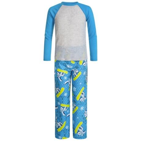Komar Kids Yeti Thermal Pajamas - Long Sleeve (For Kids) in Blue Print