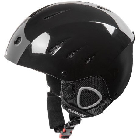 Kombi Bromley Ski Helmet in Black Gloss
