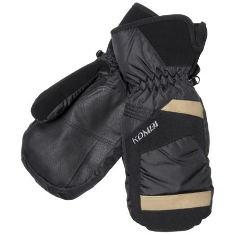 Kombi Ebb Mittens - Waterproof, Insulated (For Men) in Black/Tan
