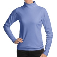 Kombi Midweight Technical Turtleneck - Long Sleeve (For Women) in Blue - Closeouts