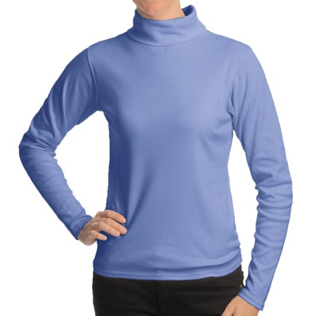 Kombi Midweight Technical Turtleneck - Long Sleeve (For Women) in Blue