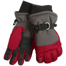 Kombi Storm Cuff Gloves - Waterproof, Insulated (For Women) in Graphite/Red - Closeouts