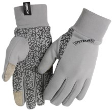 Kombi Stretch Tech Liner Gloves - Fleece (For Men) in Grey/Black - Closeouts