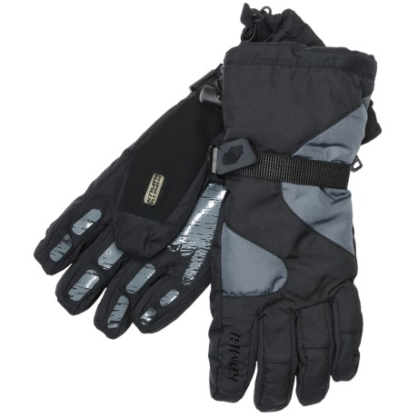 Kombi Waterguard® Gauntlet Gloves - Waterproof, Insulated (For Men) in Black/Grey